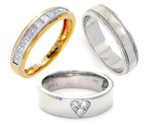Gold & Diamond Wedding Rings & Bands