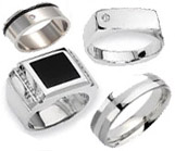 Men's Silver Rings & Bands