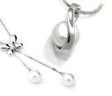 Pearl Pendants in Silver
