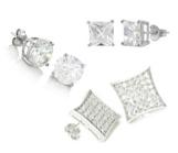 Men's  Silver Earrings