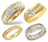 Men's Gold Rings & Bands