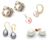 Pearls Earrings in Gold