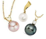 Pearl Pendants in Gold