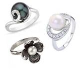 Pearl Silver Rings