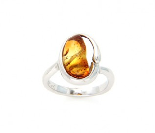 Amber 925 Sterling Silver Ring