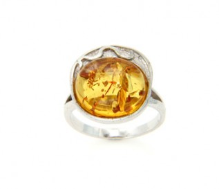 Amber 925 Silver Ring