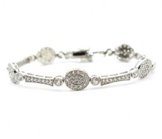 Cz Silver Vintage Design Bracelet