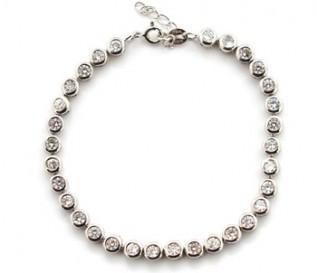 Cz Silver Bubbles Tennis Bracelet