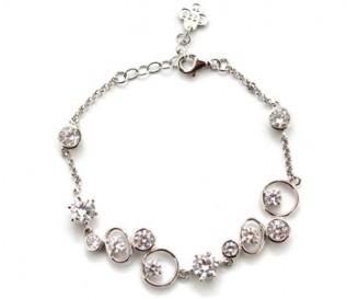 Cz Silver Pebbles Bracelet