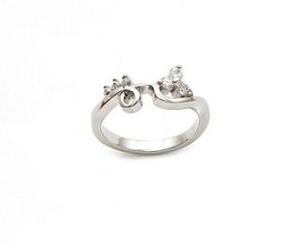 CZ Silver Swirl Ring