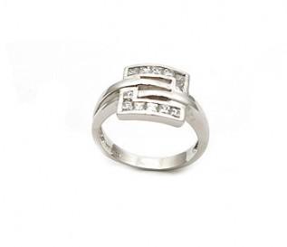 CZ 925 Silver Greek Style Ring