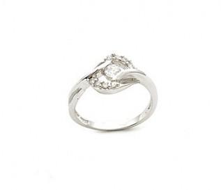 CZ Silver Eye Design Ring