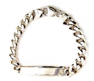 Men's ID Curb Sterling Silver Bracelet