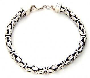 Men's Byzantine Sterling Silver Bracelet