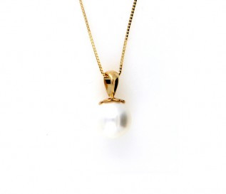 14K Yellow Gold Freshwater Pearl Pendant