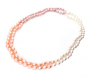 7-8mm Drop Multicolour Pearl 48 Inch Necklace