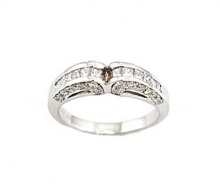 950 Platinum 0.45ct Mix Diamond Wedding Ring