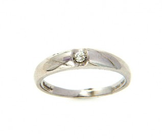 950 Platinum 0.05Ct Diamond Engagement Ring