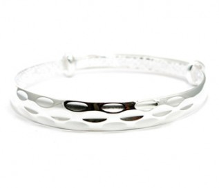 925 Silver Cut Work Expandable Bangle
