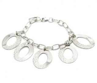 925 Silver Dangling Discs Bracelet