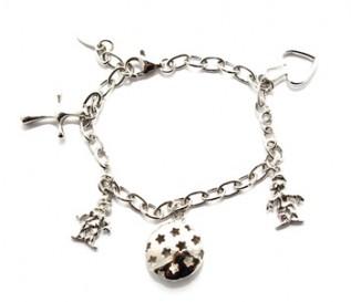 925 Silver Six Charm Bracelet