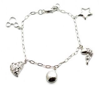 925 Silver 5 Charm Bracelet