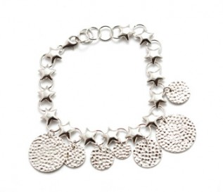 925 Silver Stars And Circles  Bracelet