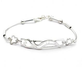 925 Silver Curvy Heart Bracelet