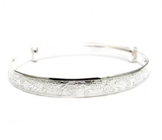 925 Silver Intricate Pattern Bangle