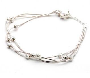 925 Silver Floating Balls Bracelet