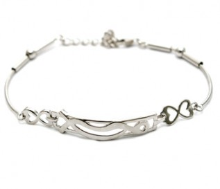 925 Silver Abstract Pattern Bracelet