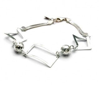 925 Silver Geometric Shapes Bracelet