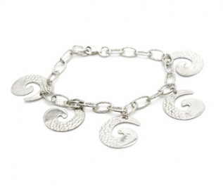 925 Silver Dangling Shells Bracelet