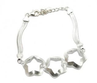 925 Silver Three Stars Bracelet