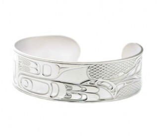 925 Silver Patterned Cuff