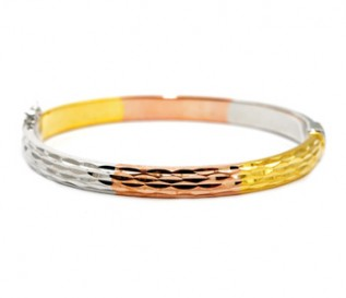 925 Silver Three Colour Bangle