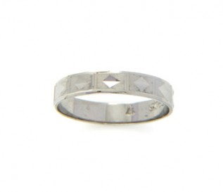 925 Silver Diamond Pattern Band