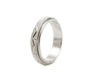 925 Silver Patterned Band