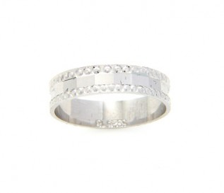 925 Sterling Silver Band with Beaded Edges