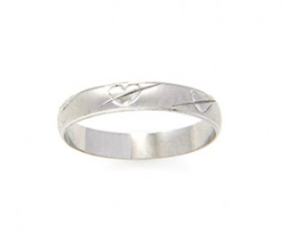925 Silver Heart & Arrow Band
