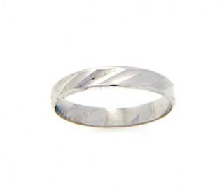 925 Silver Diagonal Pattern Band