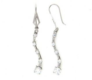 Cz Silver Journey Earrings