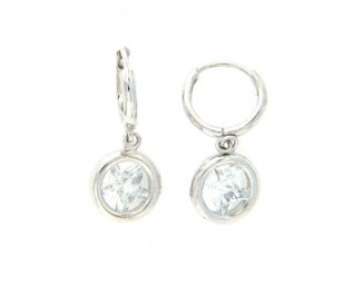 Cz Silver Star Earrings