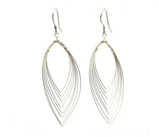 925 Silver Flame Earrings