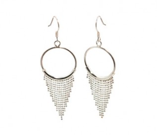 925 Sterling Silver Dazzling Chains Earrings