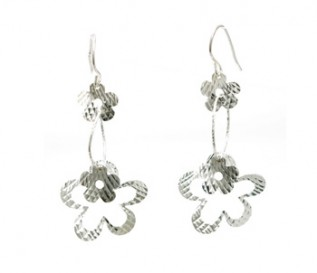 925 Sterling Silver Hanging Daisies Earrings