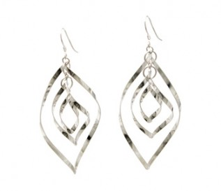 925 Sterling Silver Flame Earrings