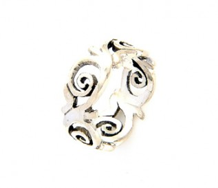 925 Silver Curls and Swirls Ring