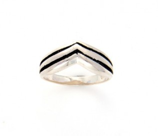 925 Sterling Silver Wishbone Ring