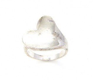 925 Silver Twisted Heart Ring